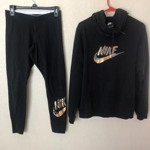 Nike leggings and hoodie set